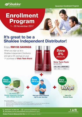 Promosi Shaklee November 2017 Twinpack Vivix for new member