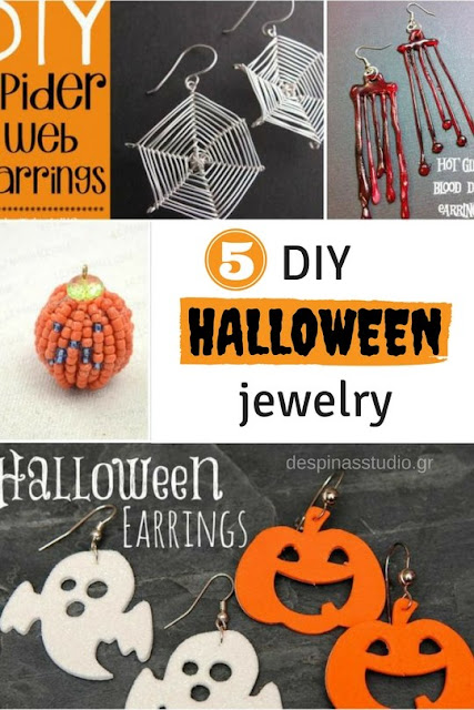 5 DIY Halloween jewelry / 5 DIY κοσμήματα για το Halloween