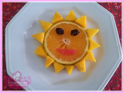 Fun food sun with fruits
