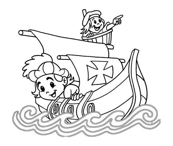 Dibujos Descubrimiento De América Colorear Dibujos Infantiles