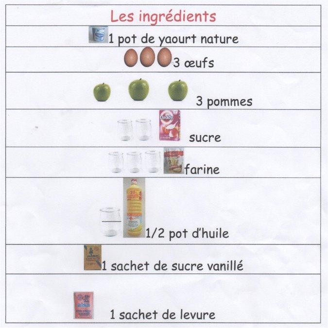 L Ecole Maternelle De Nissan Recette Du Gateau Aux Pommes
