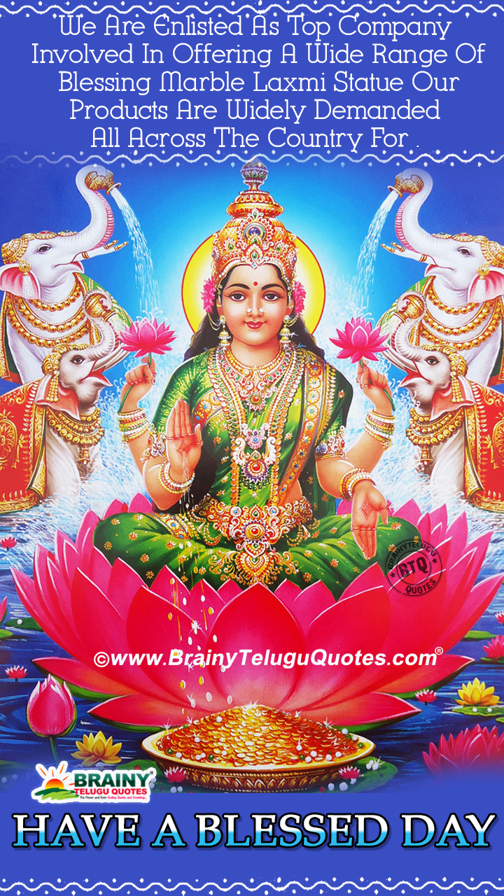 Lord Lakshmi Devi Good Morning Images Subhodayam Wishes Quotes In