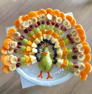 Turkey made of fruit
