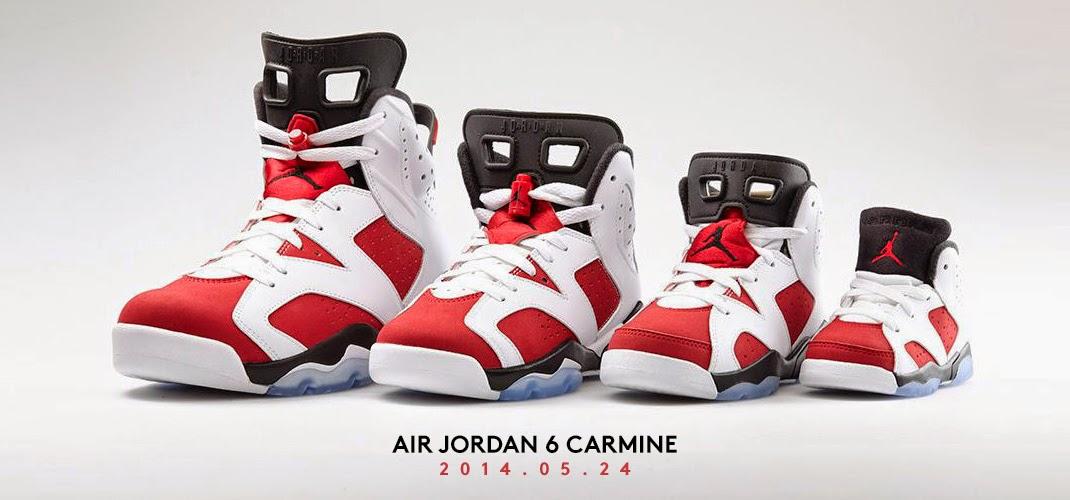 new concept ad880 93e07 Six Feet Down: Air Jordan 6 Retro 'Carmine' + Air Jordan 1 ...