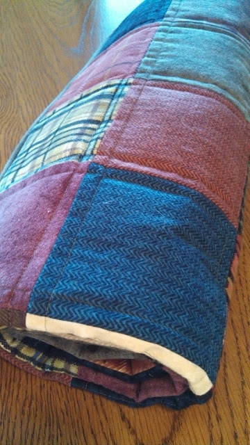 Flannel patchwork baby quilt