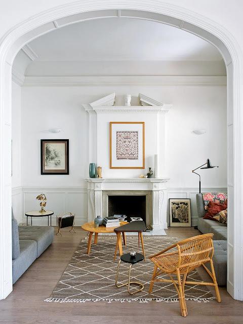 Un interior modernist și accente vintage într-un apartament din Barcelona