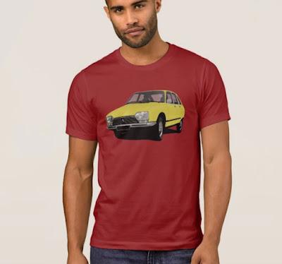 Keltainen Citroën GS t-paita