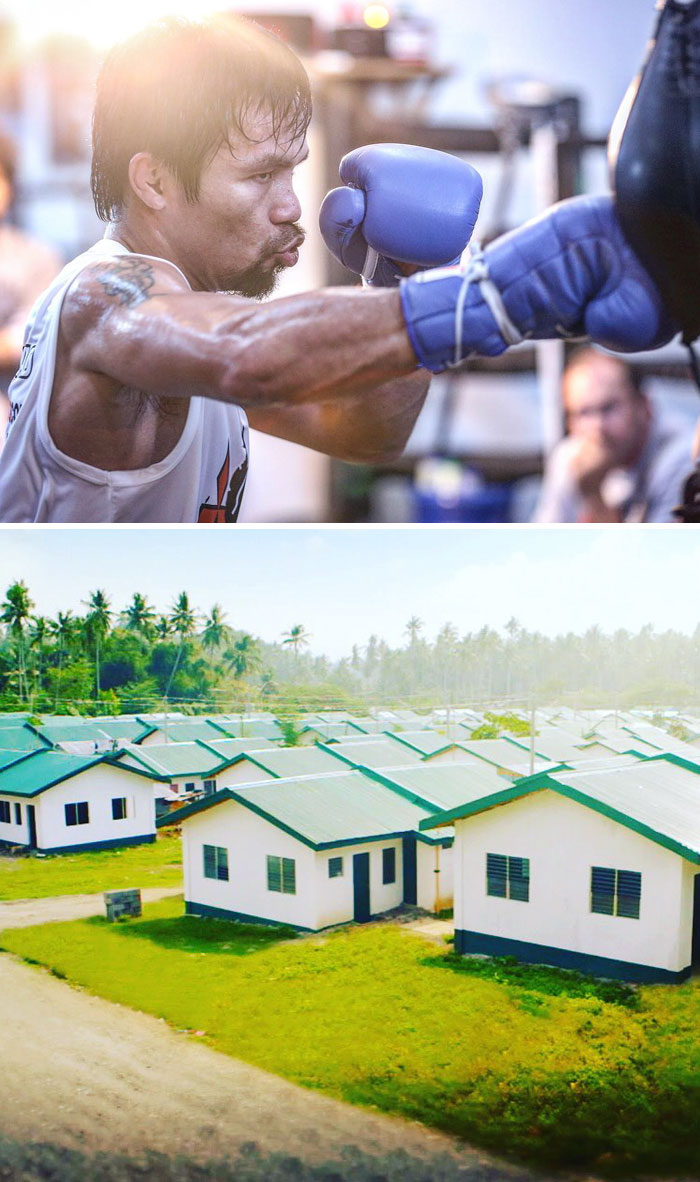40 Times 2016 Restored Our Faith In Humanity - World Champion Boxer Manny Pacquiao Builds 1,000 Homes For Poor Filipinos