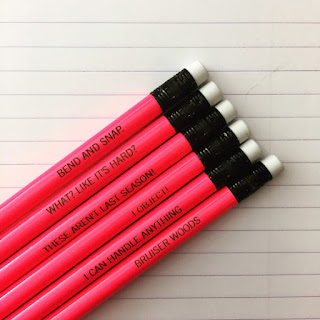 Legally Blonde pencil set | brazenandbrunette.com