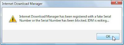Menghilangkan Fake Serial Number IDM Terbaru
