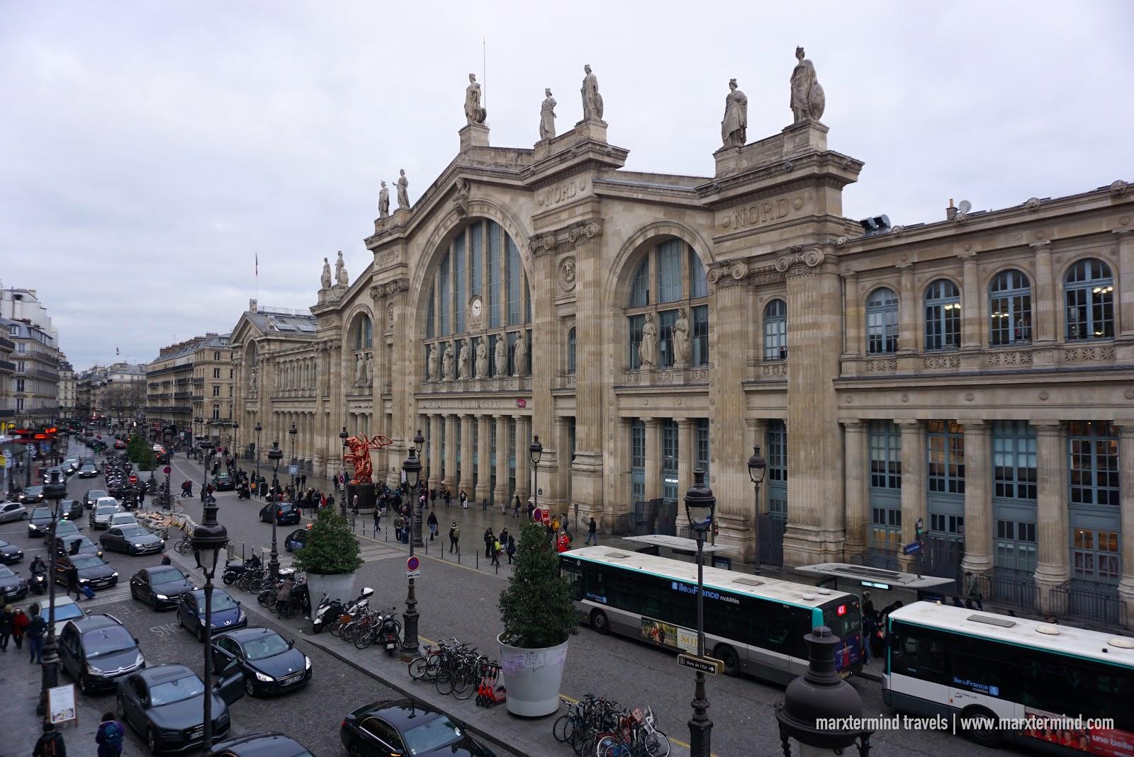 View of Gare du Nord Paris
