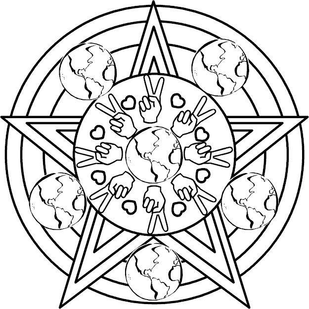 Earth Day Mandala Coloring Page