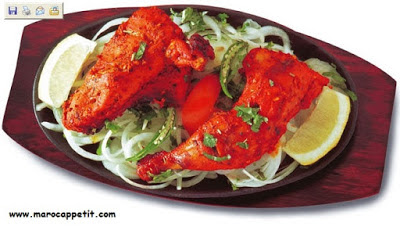 Recette facile et rapide de poulet tandoori au four | Quick and easy recipe for chicken tandoori oven