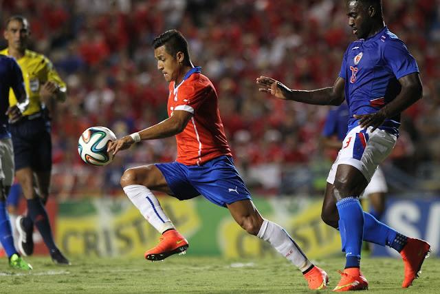 Chile y Haití en partido amistoso, 9 de septiembre de 2014