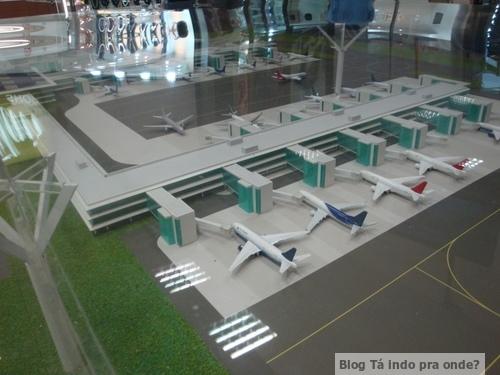 Maquete aeroporto Viracopos