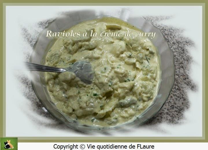 Vie quotidienne de FLaure: Ravioles à la crème de curry