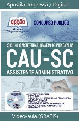 apostila para concurso CAU de SC 2018