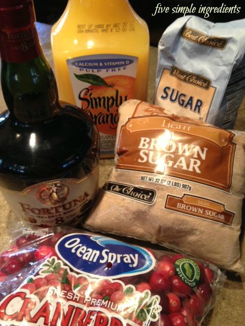Simple Cranberry Sauce - 5 ingredients