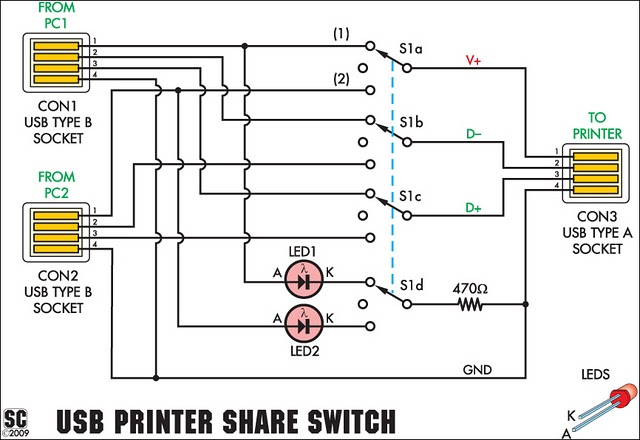 usb printer share switch circuit project xtreme circuits rh xtremecircuits blogspot com