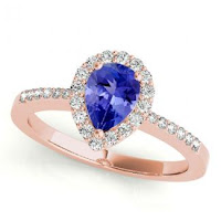 Pear Tanzanite Ring