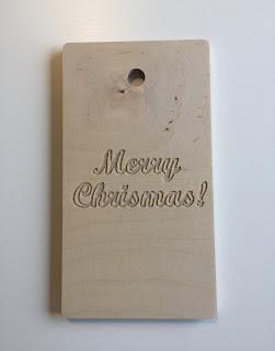 "Tabla de madera ""Merry Christmas"""