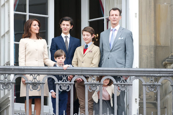 Prince Joachim of Denmark, Princess Marie of Denmark, Prince Nikolai of Denmark, Prince Felix, Princess Athena and Prince Henrik, Count of Monpezat