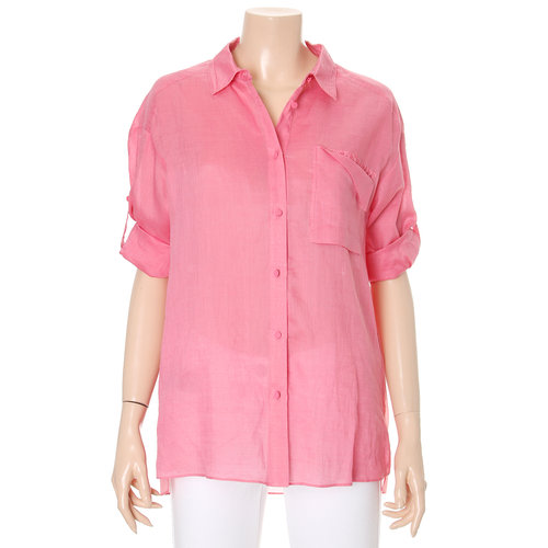 Rolled Sleeved Button-Down Shirt