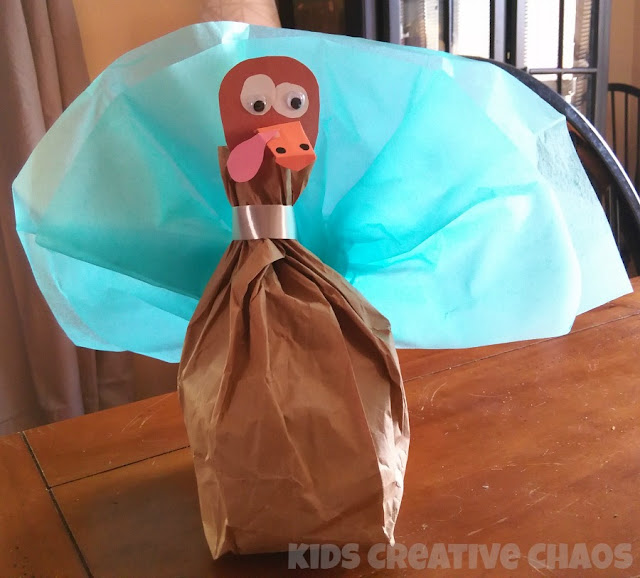 super easy paper bag turkey
