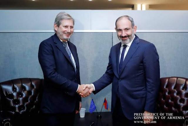Pashinyan y Hahn discuten la expansión de la cooperación UE-Armenia