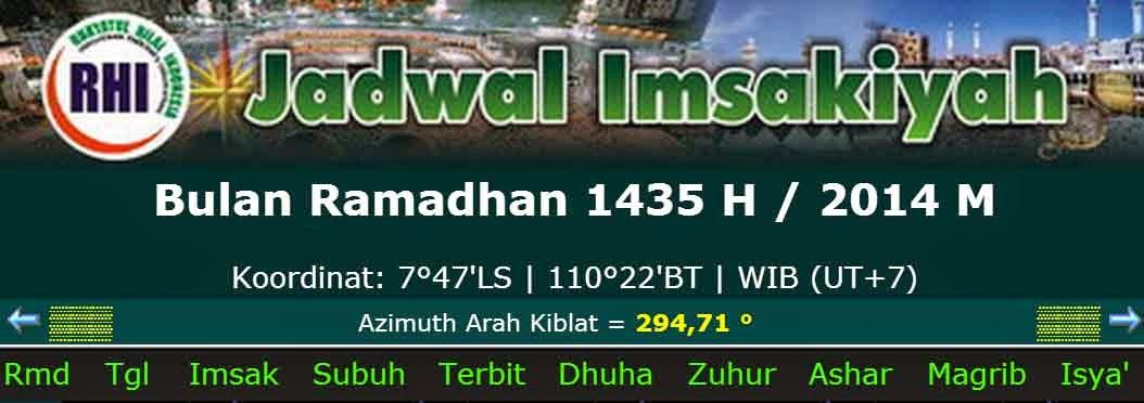 rpp terbaru  jadwal imsakiyah bulan ramadhan 1435 h    2014