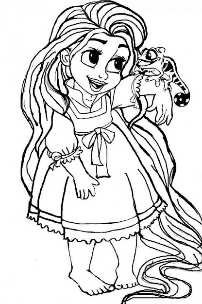 Tangled Printable Coloring Pages