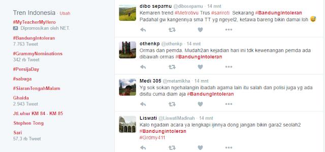 Acara Kebaktian Rohani di Sabuga Didatangi Ormas, Netizen Ramaikan Tagar #BandungIntoleran