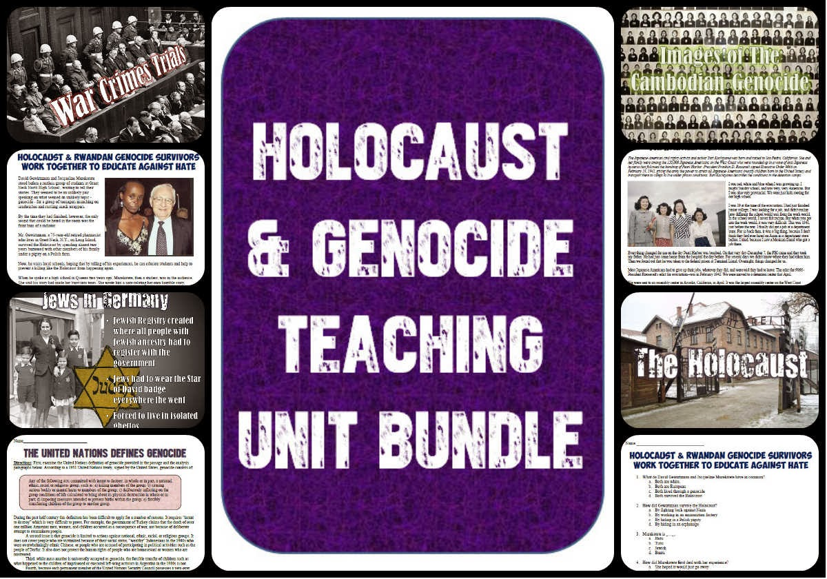 Students Of History New Holocaust And Genocide Lesson
