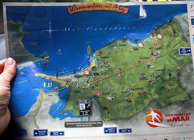 Mapa Ribamontán al Mar. Cantabria