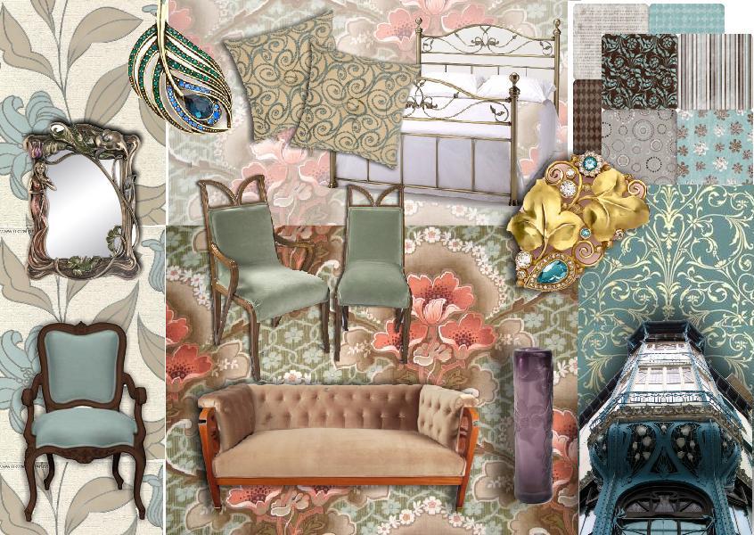 Moodboard Inspiration: Interior Design | Art Nouveau style ...