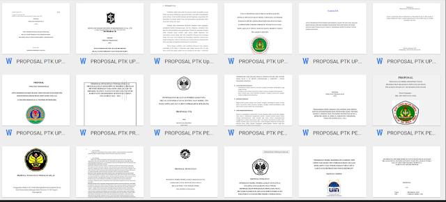 10 Contoh Proposal Ptk Tinggal Edit Format Microsoft Word Bagian I Info Pendidikan