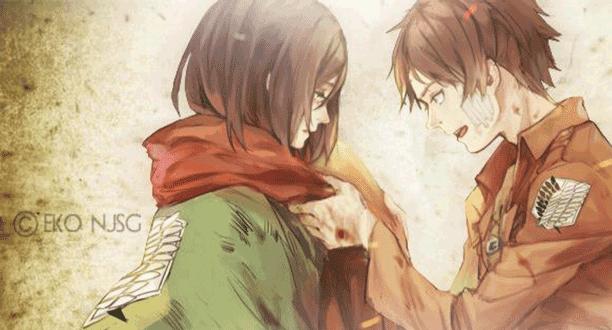 Pasangan Anime Terbaik - Mikasa Ackerman X Eren Jaeger