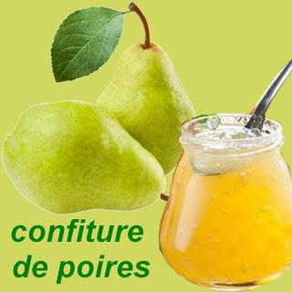 préparation recette confiture de poires