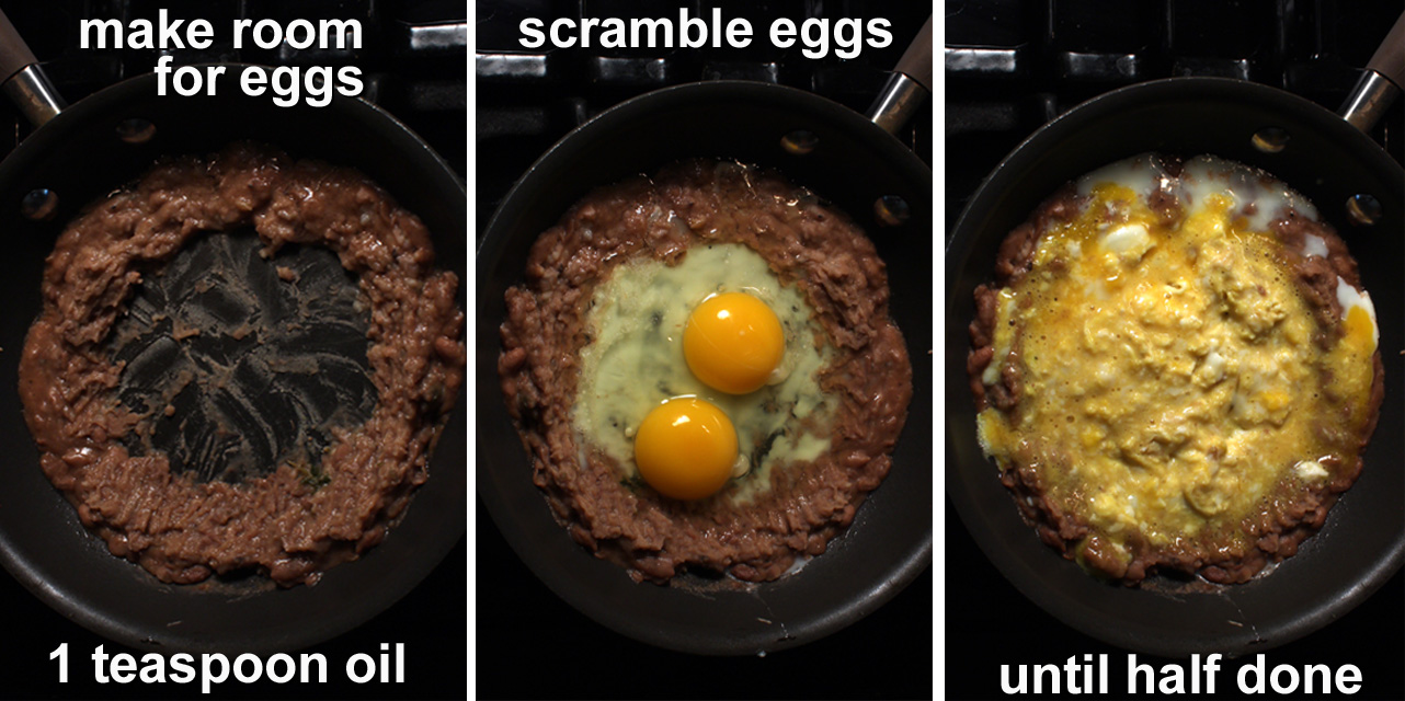 Scramble Eggs Until Halfway Done You Can Use Your Favorite Egg Ings A Little Milk And Do It Way