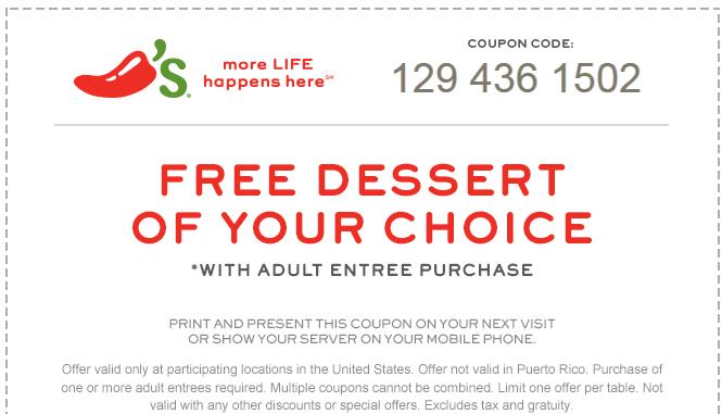 chilis coupons 2018
