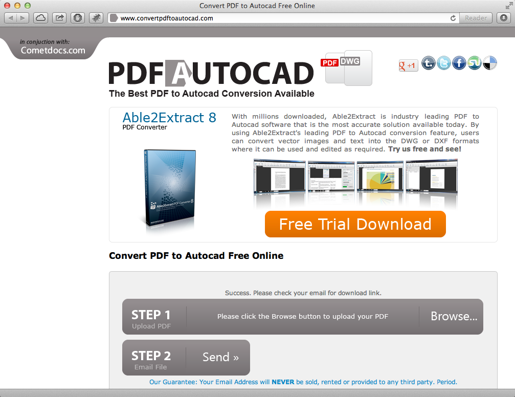 From PDF (back) to DWG