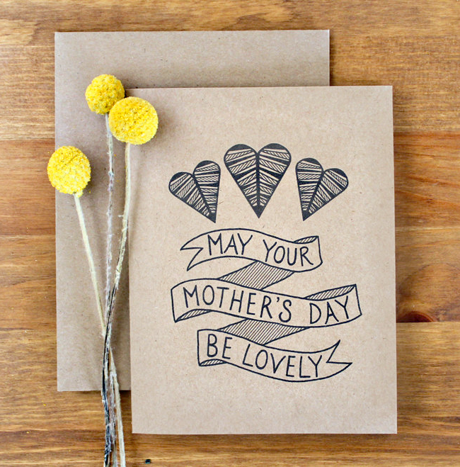 mothers day card crafted - 570×470