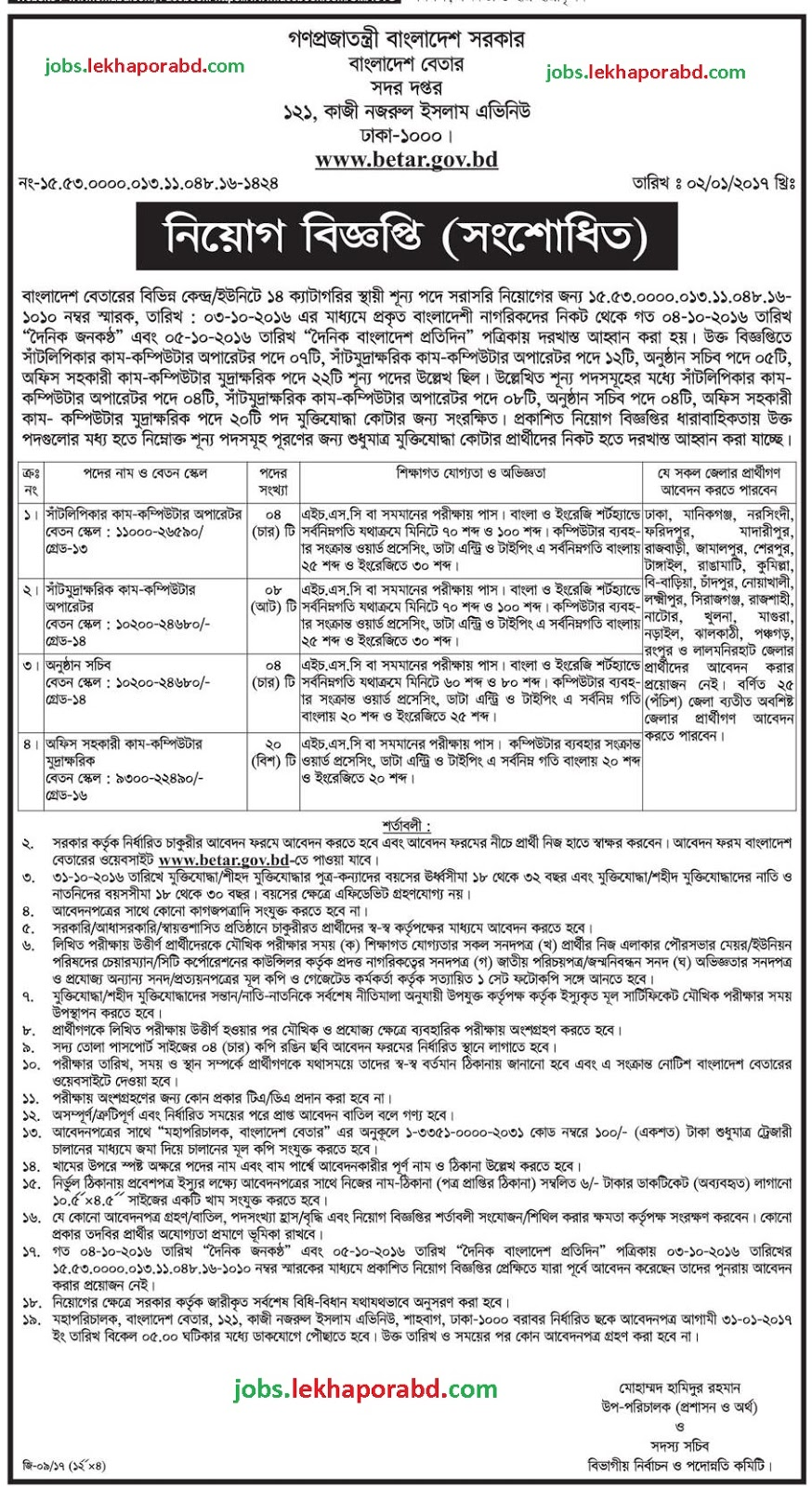 zLdoTkH Job Application Form Of Desh Betar on