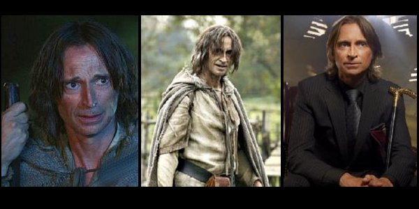 Once Upon a Time - Rumplestiltskin as a normal man, Dark Lord, and Mr. Gold