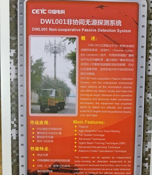 Chinese DWL-001 Non-cooperative Passive Detection System