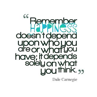 Happiness doesnt depend upon who you are - happiness quotes