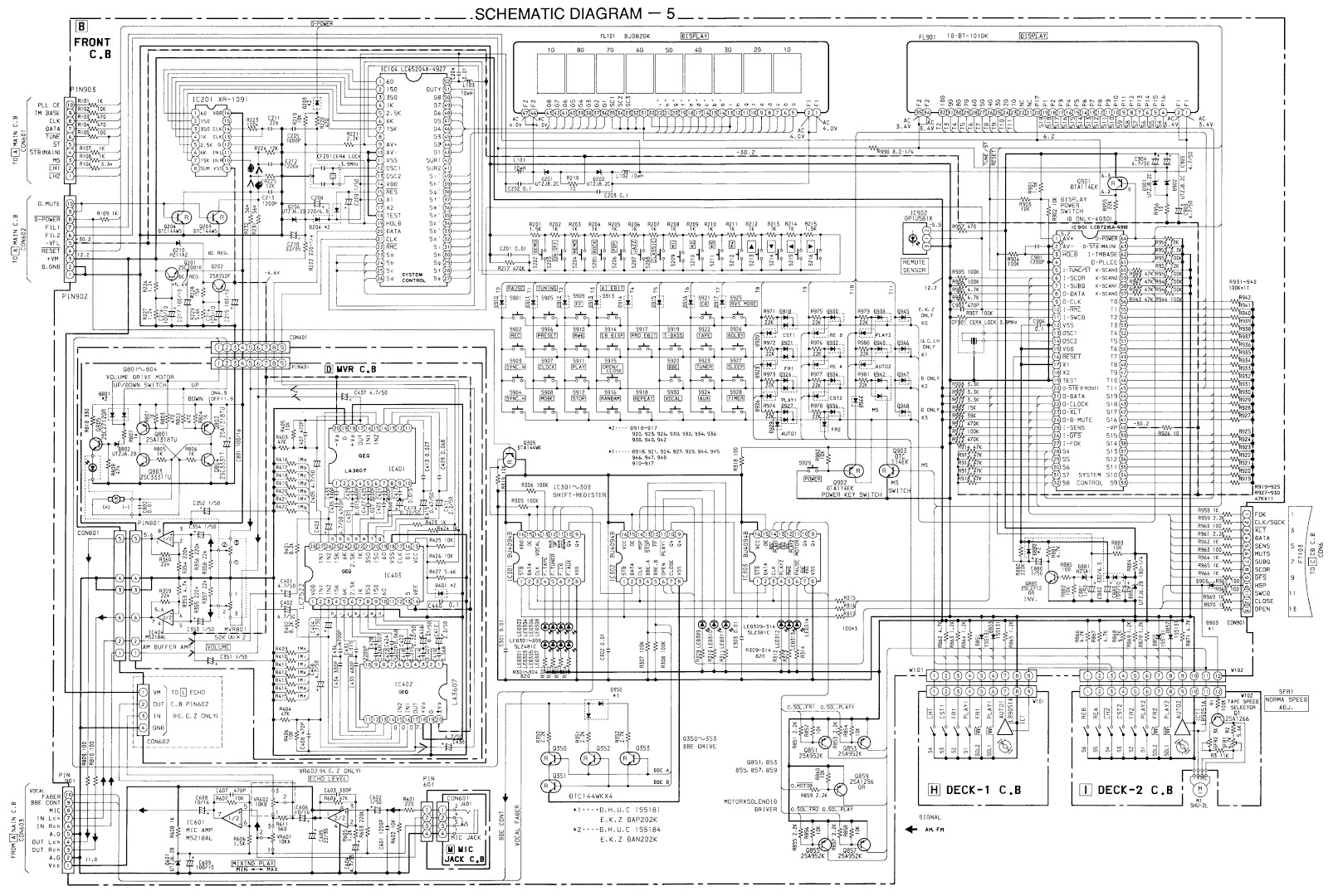 Schematic Diagrams Aiwa Xg990 Nsx990 Nsx992 Compact
