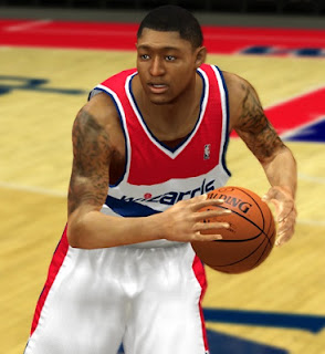 NBA 2K13 Bradley Beal with Tattoos Patch