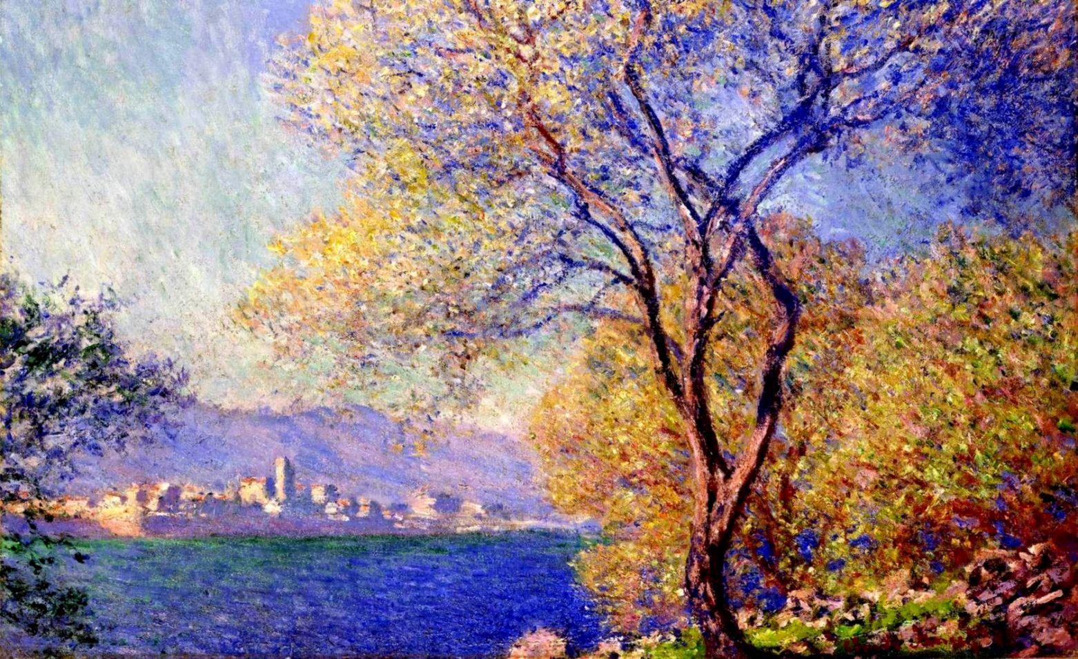 Wallpaper landscape wood painting impressionism Art