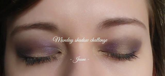 maquillage yeux jaune et violet